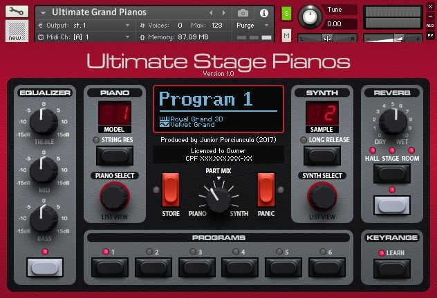ULTIMATE STAGE PIANOS (KONTAKT) 4,19 GB