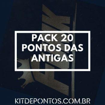 PACK 20 PONTOS DA ANTIGA
