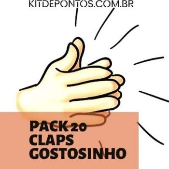 PACK 20 CLAP'S GOSTOSINHO