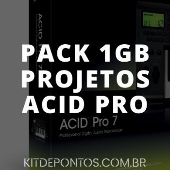 PACK 1GB DE PROJETOS ACID PRO  🚀