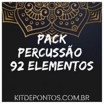 PACK PERCUSSÃO 92 ELEMENTOS